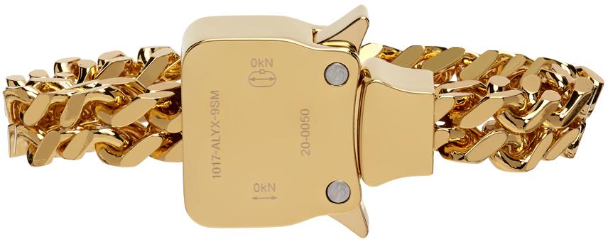 1017 ALYX 9SM Gold Cubix Chain Bracelet 211776M142001