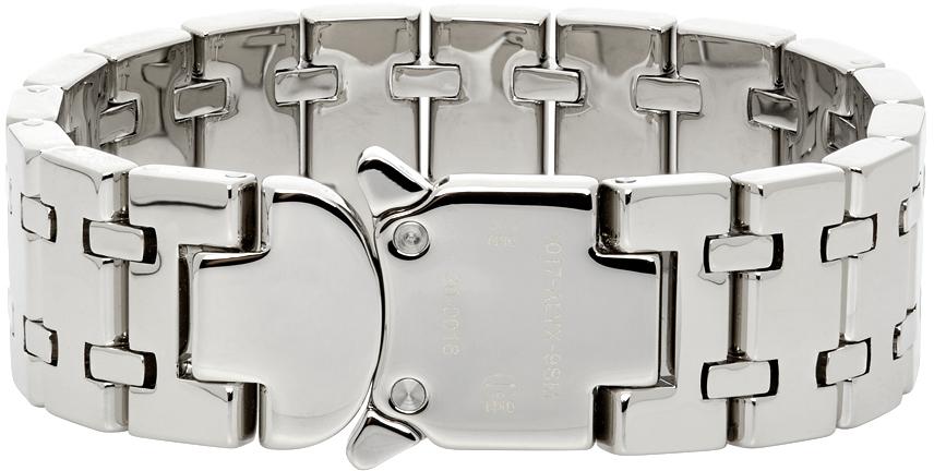 1017 ALYX 9SM Silver Track Link Bracelet 211776M142009