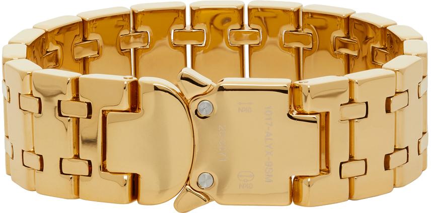 1017 ALYX 9SM Gold Track Link Bracelet 211776M142010