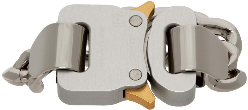 1017 ALYX 9SM Silver Hero 4X Chain Bracelet 211776M142018