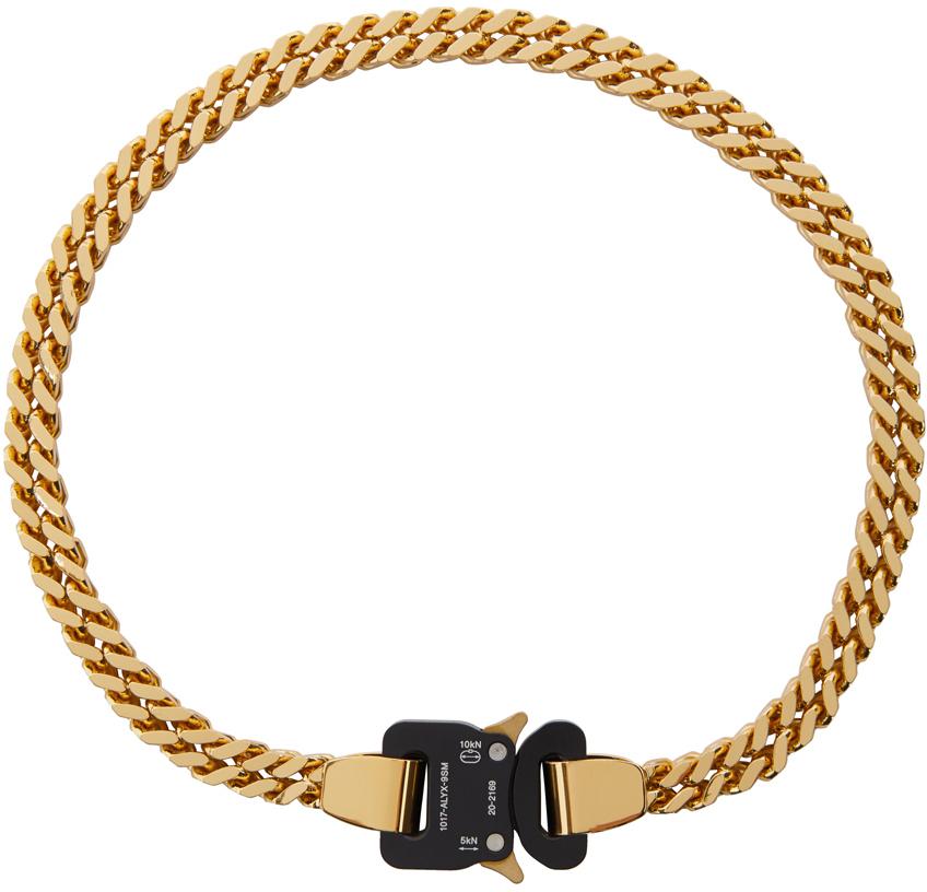 1017 ALYX 9SM Gold Black Cubix Chain Necklace 211776M145001