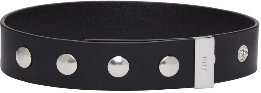 1017 ALYX 9SM Black Leather Choker 211776M145012