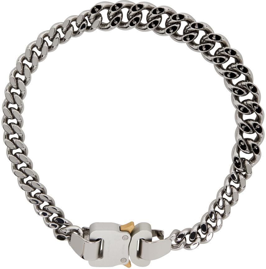 1017 ALYX 9SM Silver Hero 4X Chain Necklace 211776M145014