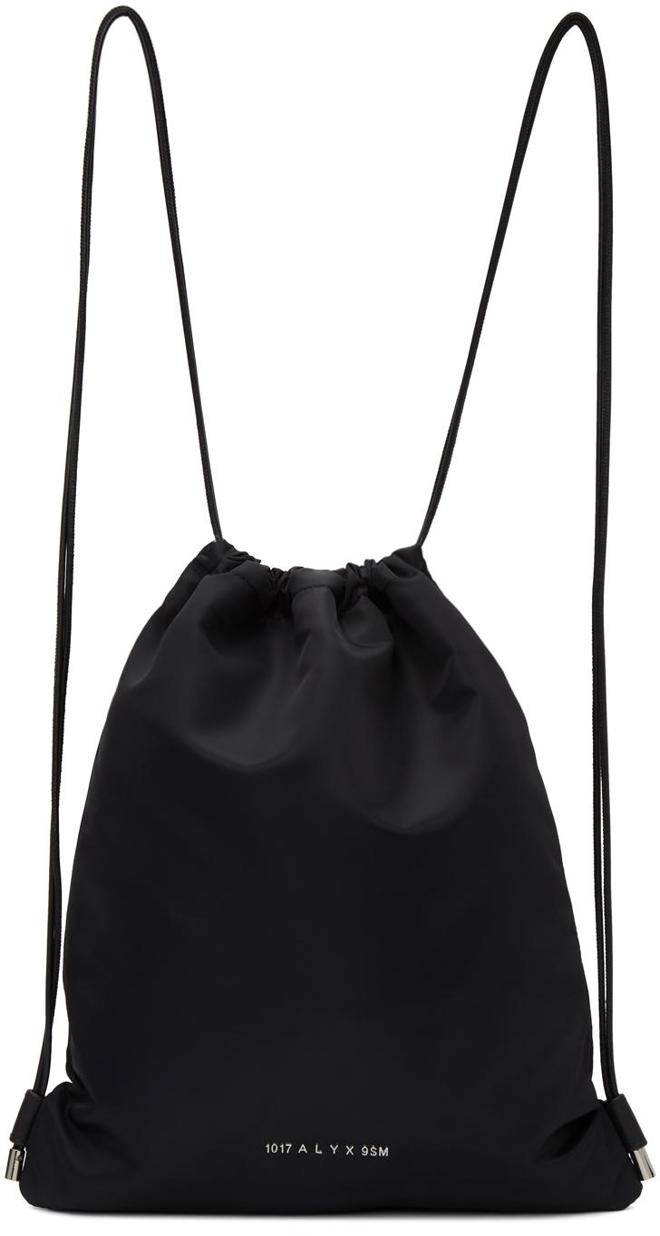 1017 ALYX 9SM Black Re Nylon Drawstring Gym Backpack 211776M166003
