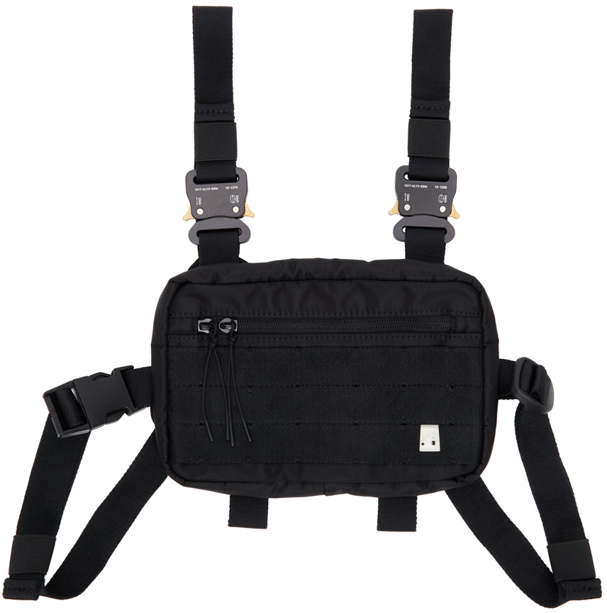 1017 ALYX 9SM Black Classic Mini Chest Rig Pouch 211776M170104