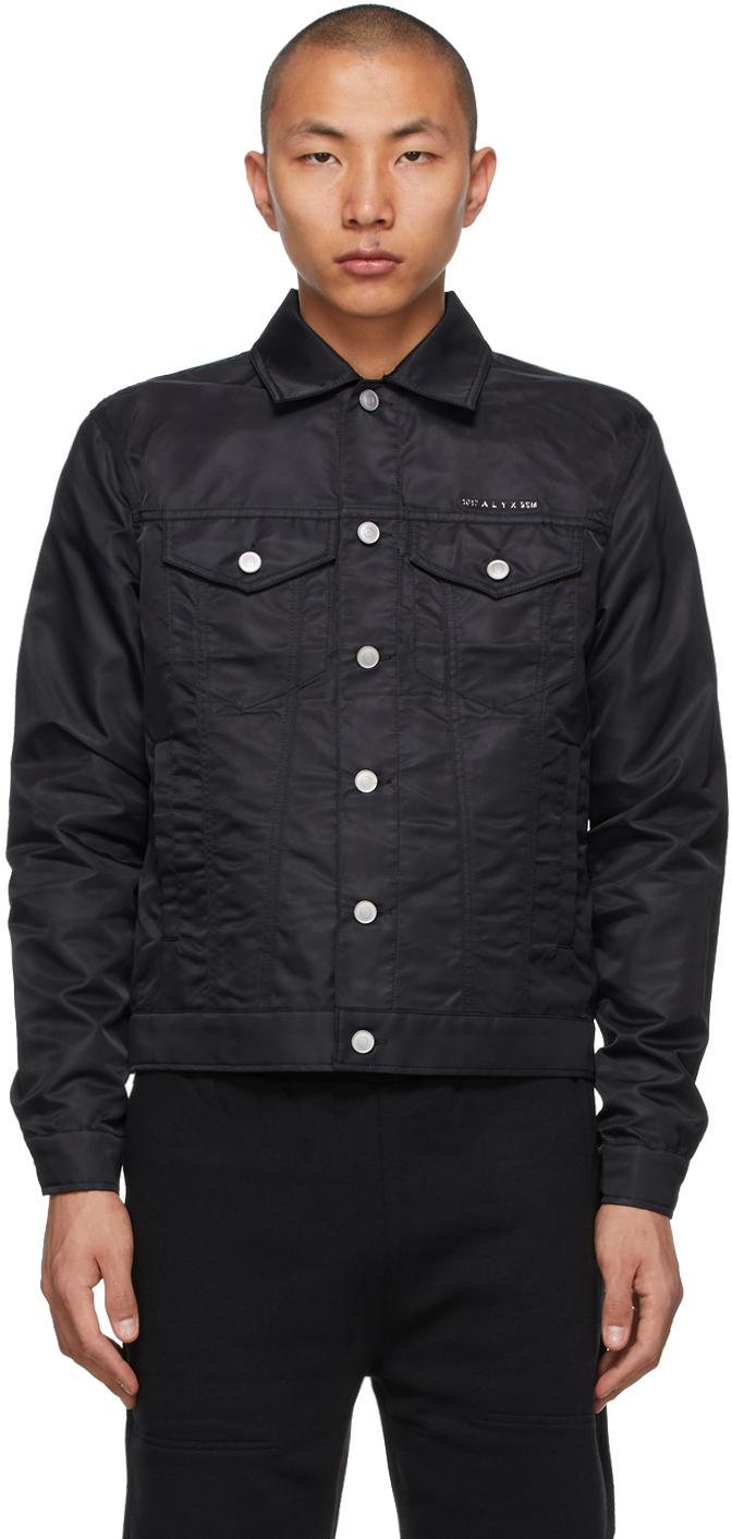 1017 ALYX 9SM Black Denim Canvas Jacket 211776M177000