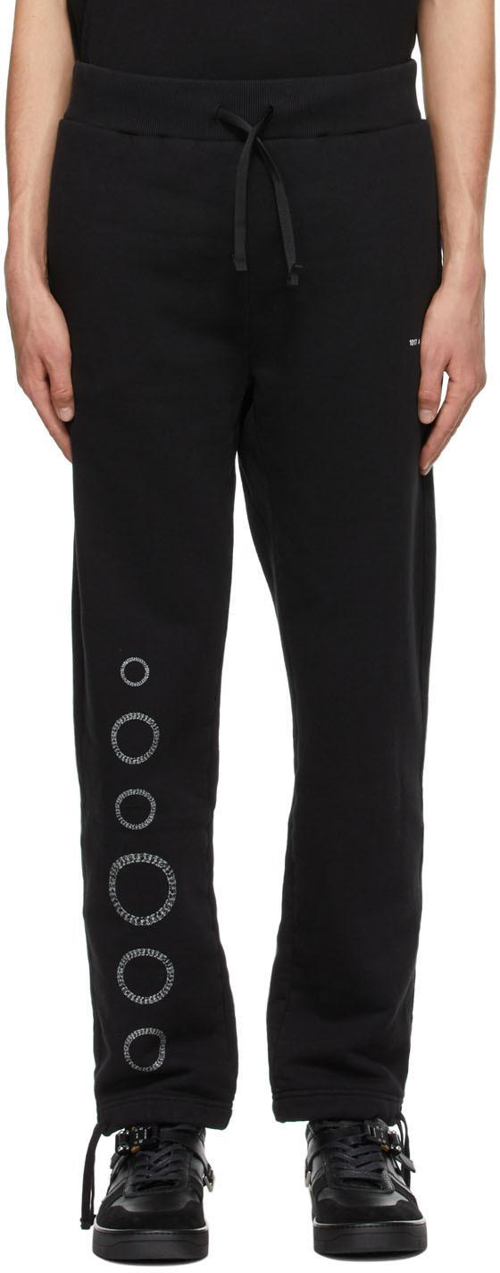 1017 ALYX 9SM Black Cube Chain Lounge Pants 211776M190006