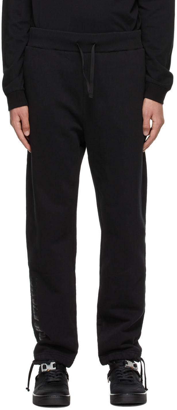 1017 ALYX 9SM Black Mirrored Logo Lounge Pants 211776M190007