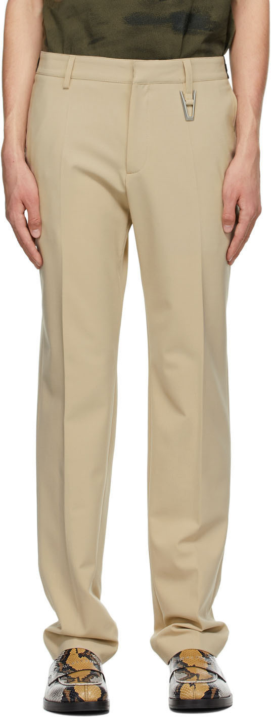 1017 ALYX 9SM Beige Elastic Waist Tailoring Trousers 211776M191001
