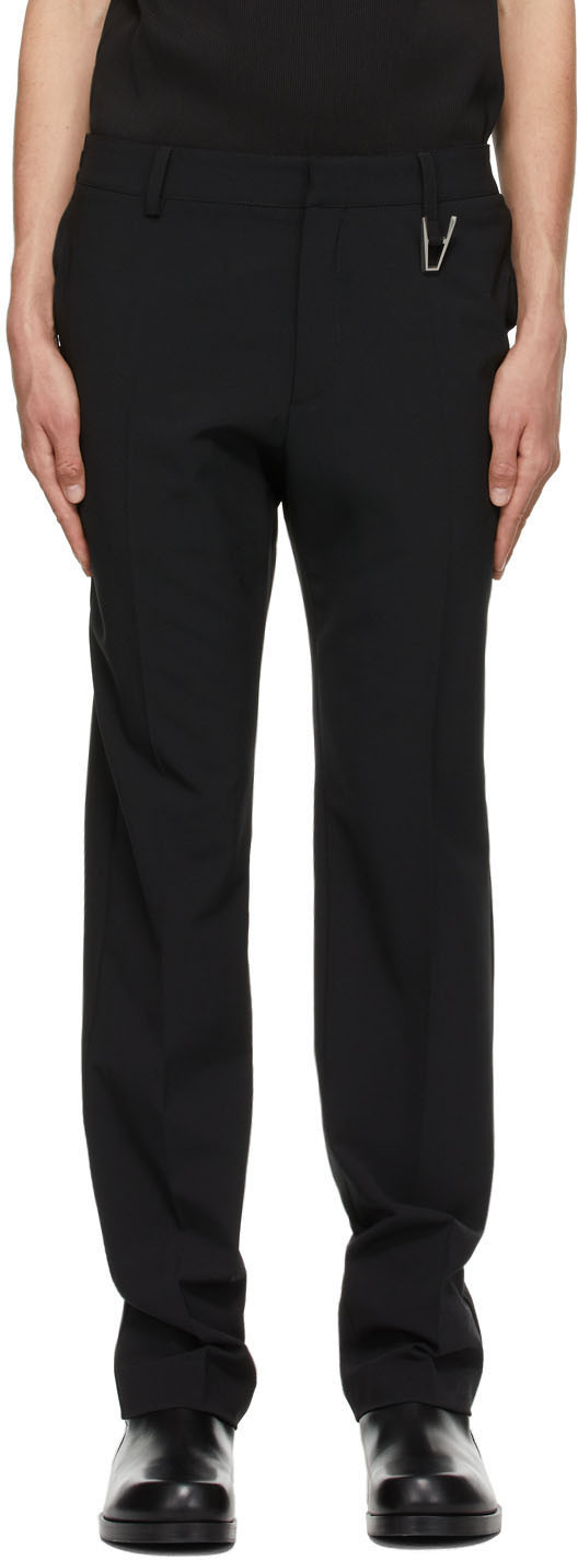 1017 ALYX 9SM Black Wool Tailored Trousers 211776M191002