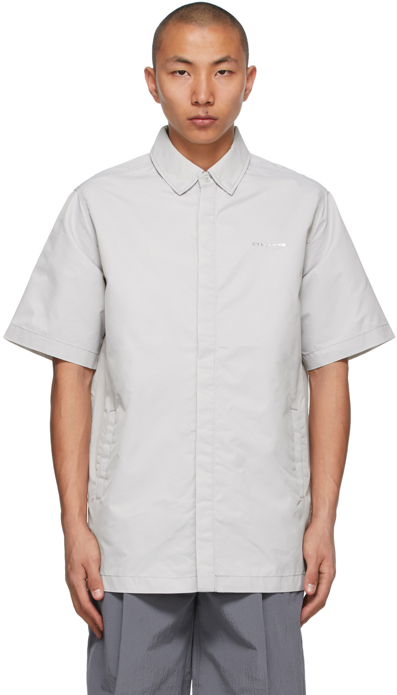 1017 ALYX 9SM Taupe Short Sleeve Shirt 211776M192001