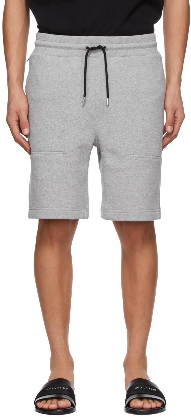 1017 ALYX 9SM Grey Sweatpant Shorts 211776M193001