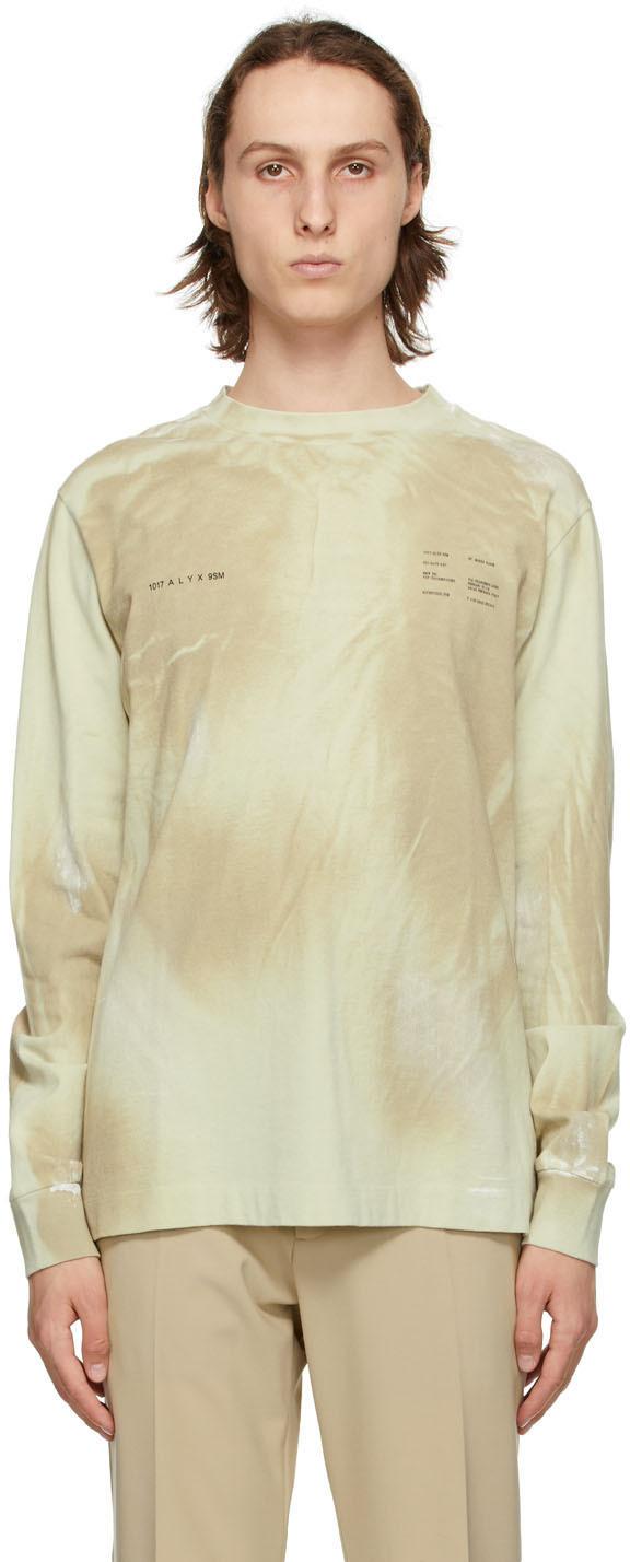 1017 ALYX 9SM Beige Printed Double Logo Sweatshirt 211776M201000