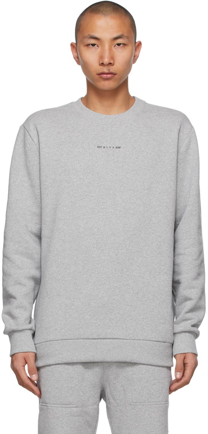 1017 ALYX 9SM Grey Crewneck Visual Sweatshirt 211776M204001