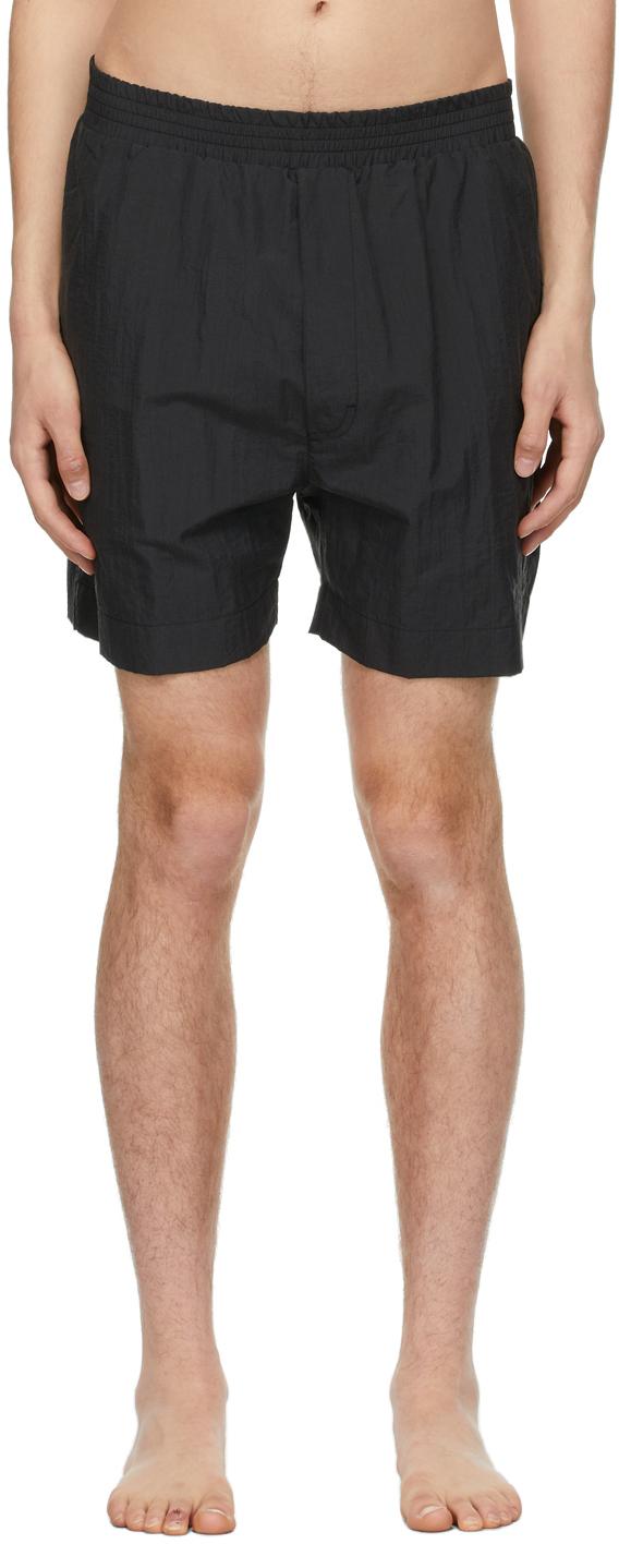 1017 ALYX 9SM Black Taffeta Swim Shorts 211776M208160