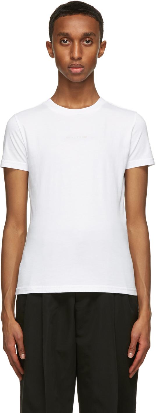 1017 ALYX 9SM White Address Logo T Shirt 211776M213003