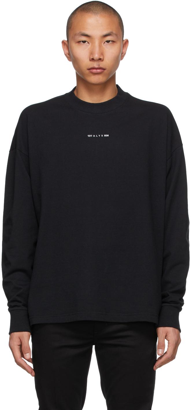 1017 ALYX 9SM Black Visual Logo Long Sleeve T Shirt 211776M213006