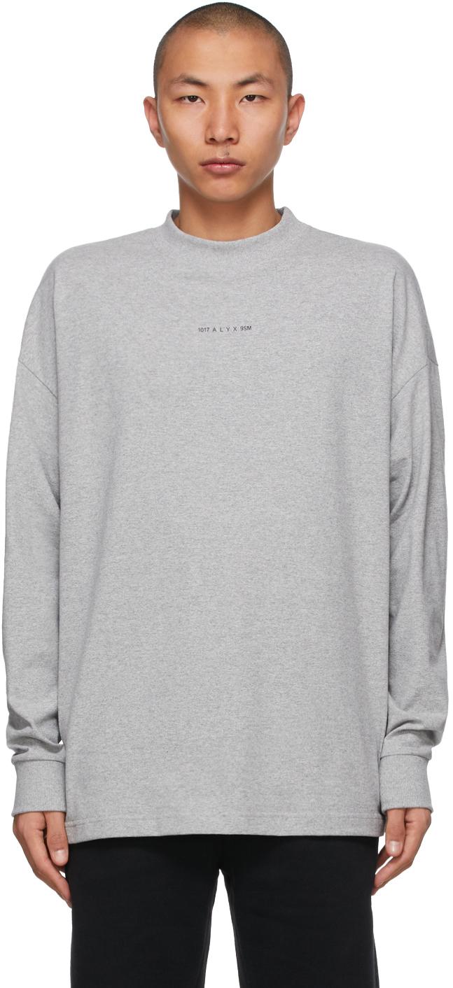 1017 ALYX 9SM 灰色 Visual Logo 长袖 T 恤