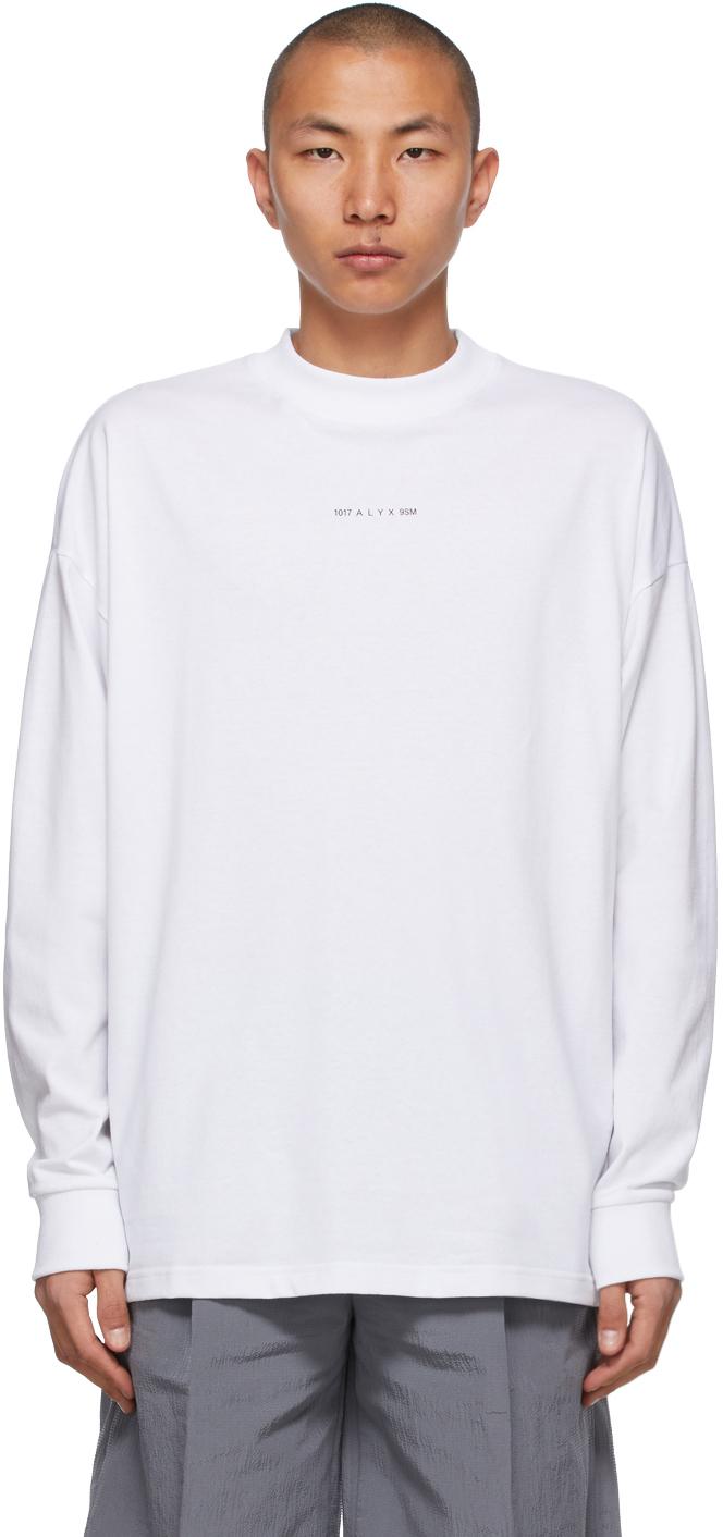 1017 ALYX 9SM White Visual Logo Long Sleeve T Shirt 211776M213008