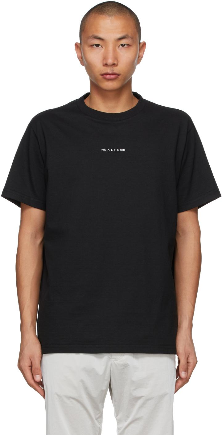 1017 ALYX 9SM Black Visual Logo T Shirt 211776M213013