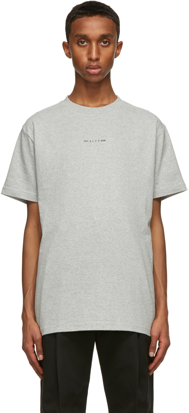 1017 ALYX 9SM Grey Visual Logo T Shirt 211776M213014