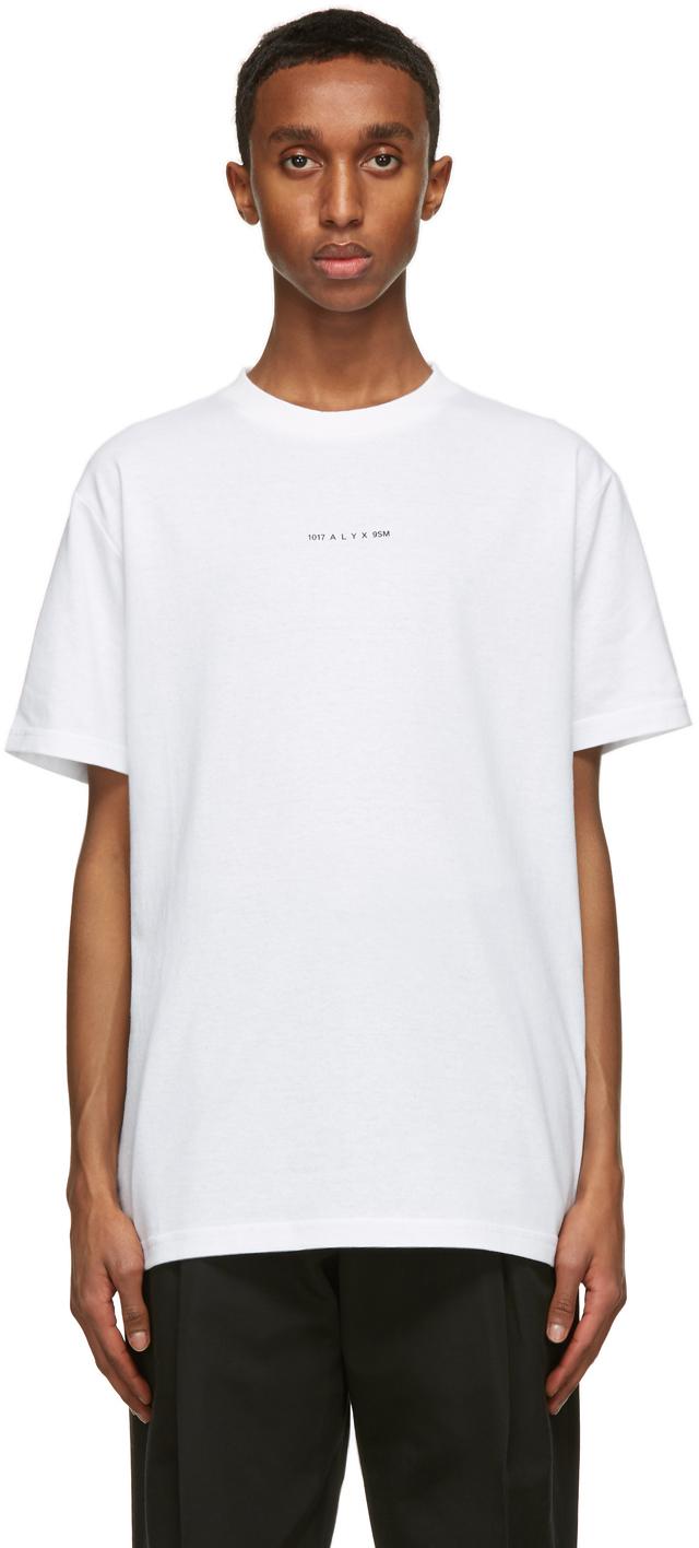 1017 ALYX 9SM White Visual Logo T Shirt 211776M213015
