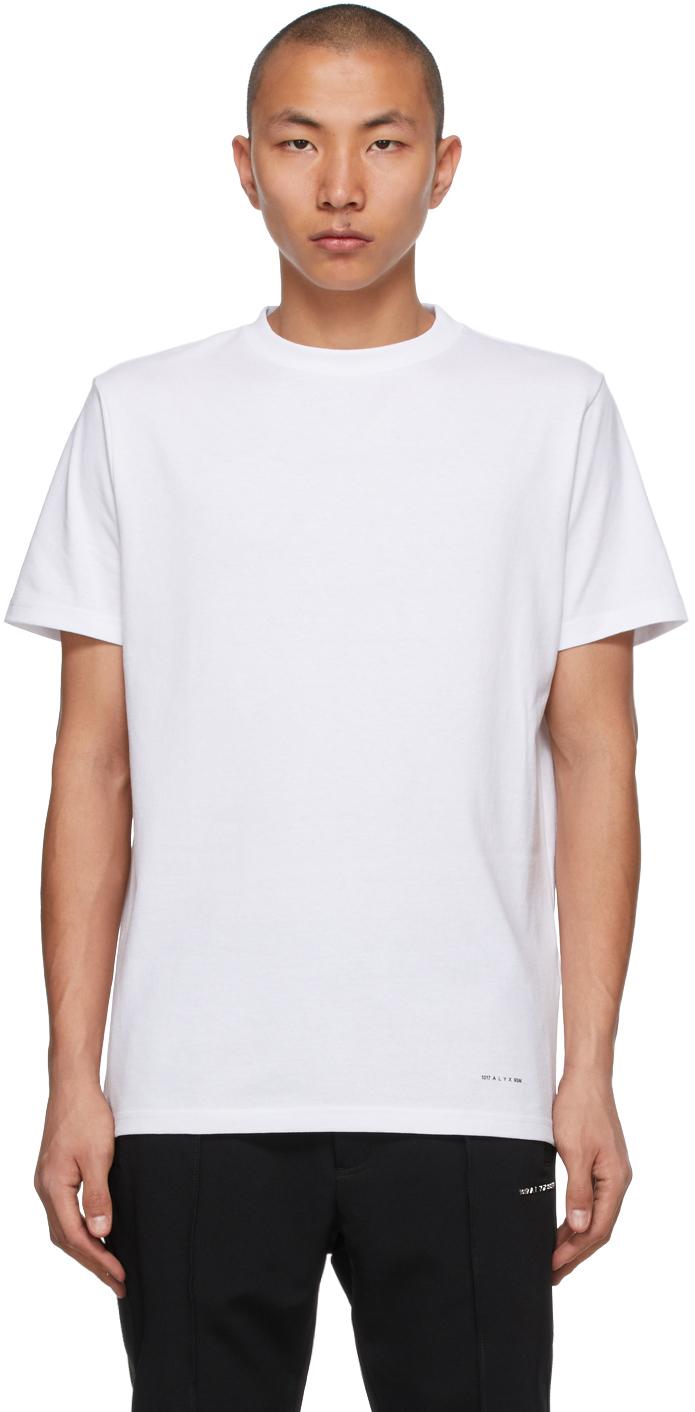1017 ALYX 9SM Three Pack White Jersey T Shirts 211776M213017