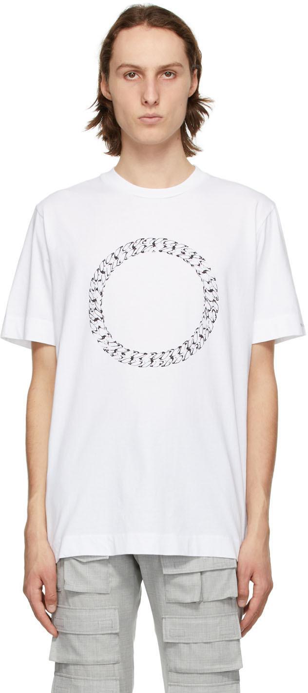 1017 ALYX 9SM White Cube Chain T Shirt 211776M213023