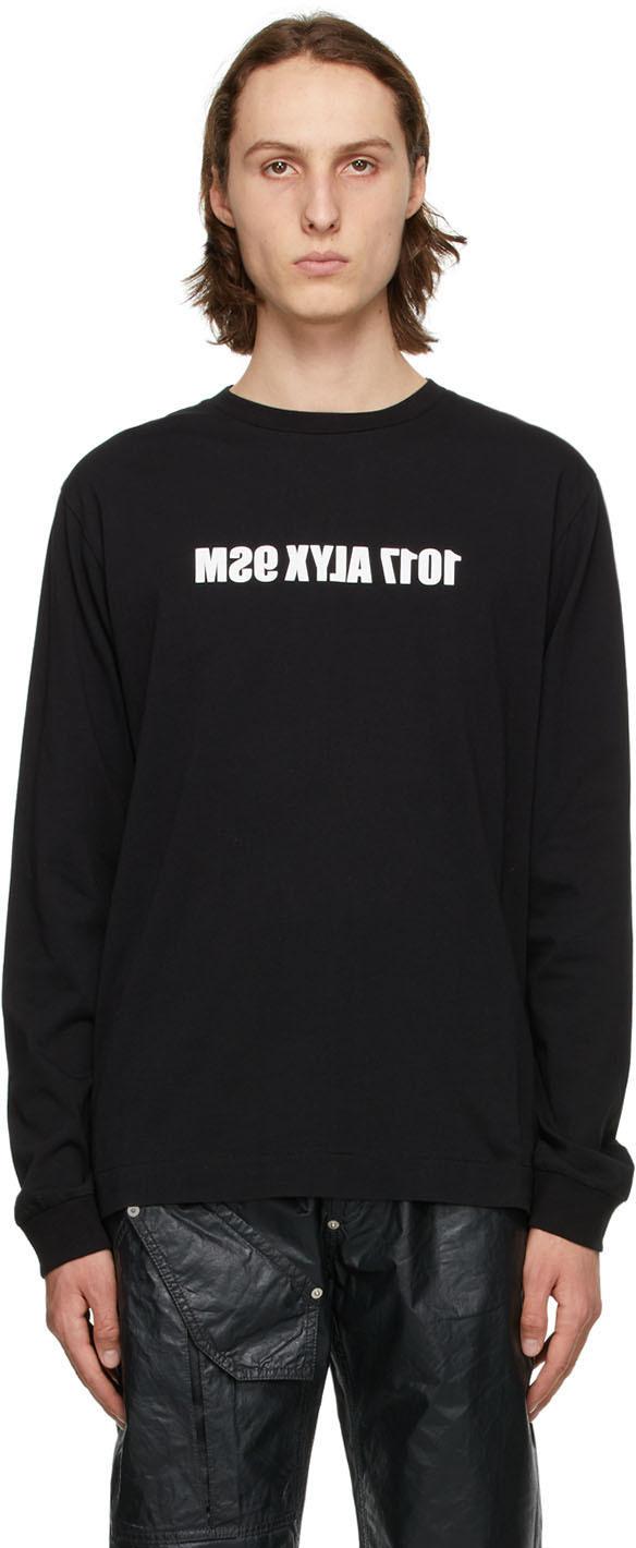 1017 ALYX 9SM 黑色 Mirrored Logo 长袖 T 恤