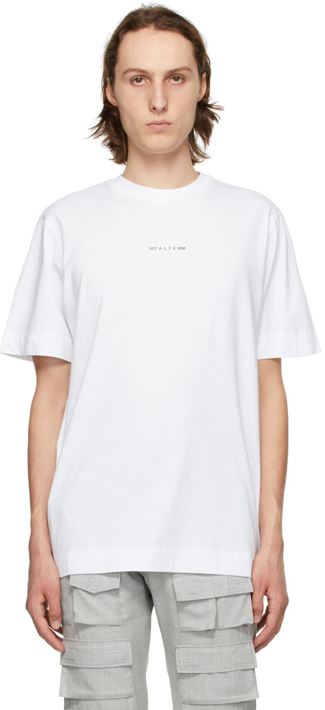 1017 ALYX 9SM White Dried Tears T Shirt 211776M213026