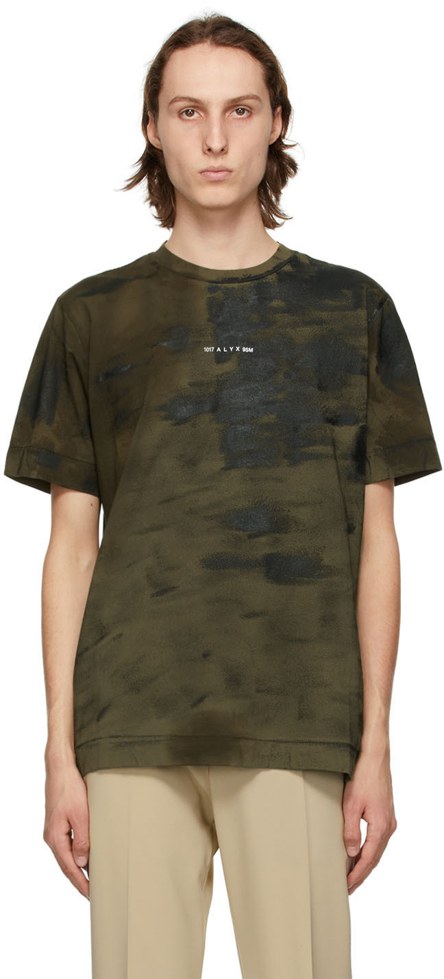 1017 ALYX 9SM Khaki Treated Change Of Heart T Shirt 211776M213028