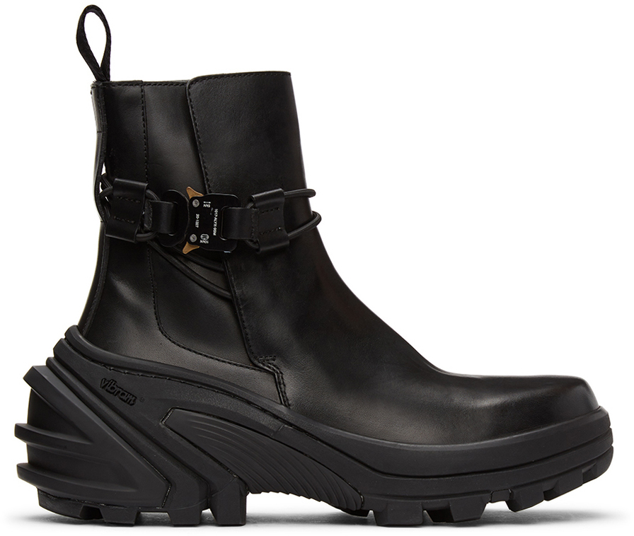 1017 ALYX 9SM Black Buckle Fixed SKX Sole Chelsea Boots 211776M228000