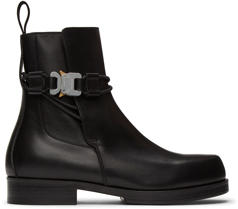 1017 ALYX 9SM Black Buckle Chelsea Boots 211776M228001