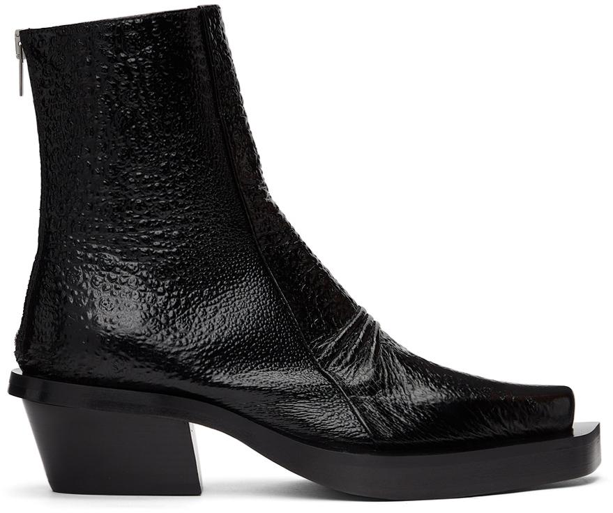 1017 ALYX 9SM Black Toad Leone Boots 211776M228003