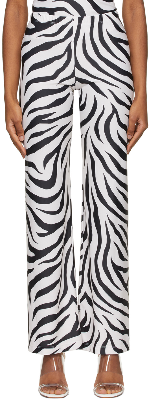 SSENSE Exclusive White & Black Dance Lounge Pants