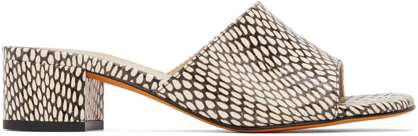 Brown & Off-White Agatha Slide Heeled Sandals
