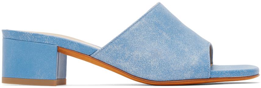 Blue Agatha Slide Heeled Sandals