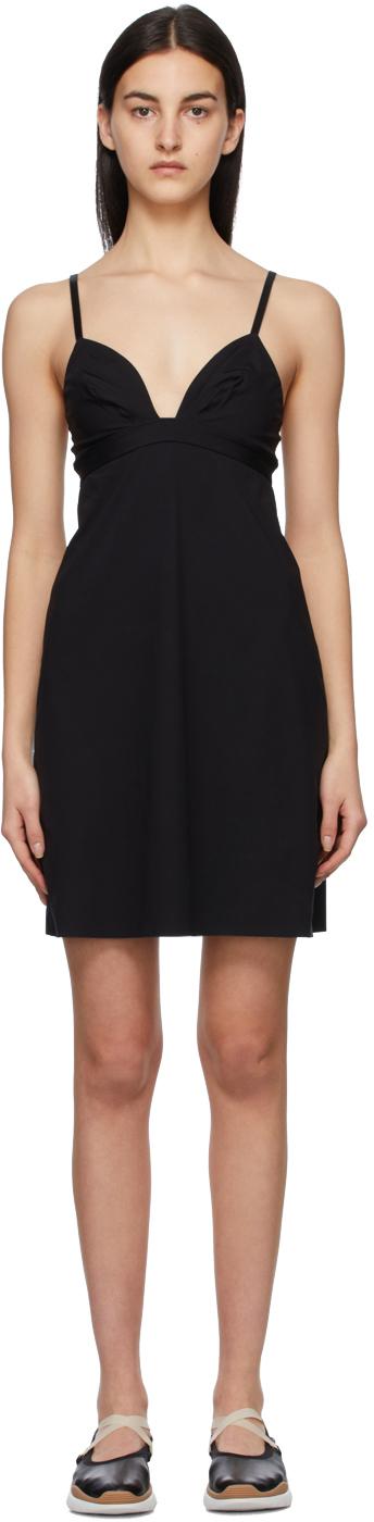 Black Silhouette Short Dress
