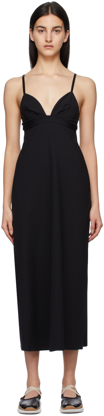 Black Silhouette Mid-Length Dress