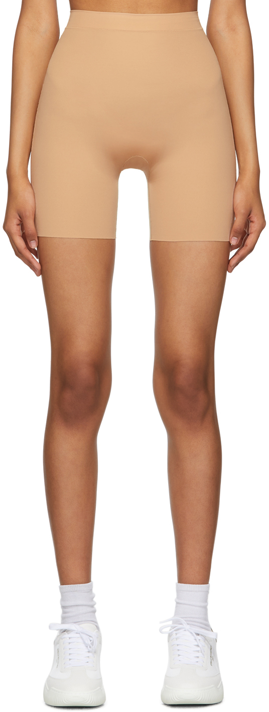 Beige Curve Shorts