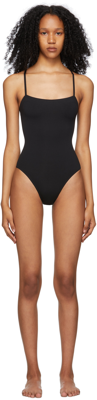 Black Aquarelle One-Piece Swimsuit