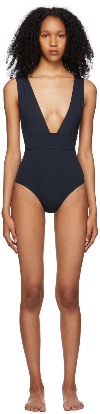 Navy Pigment One-Piece Swimsuit