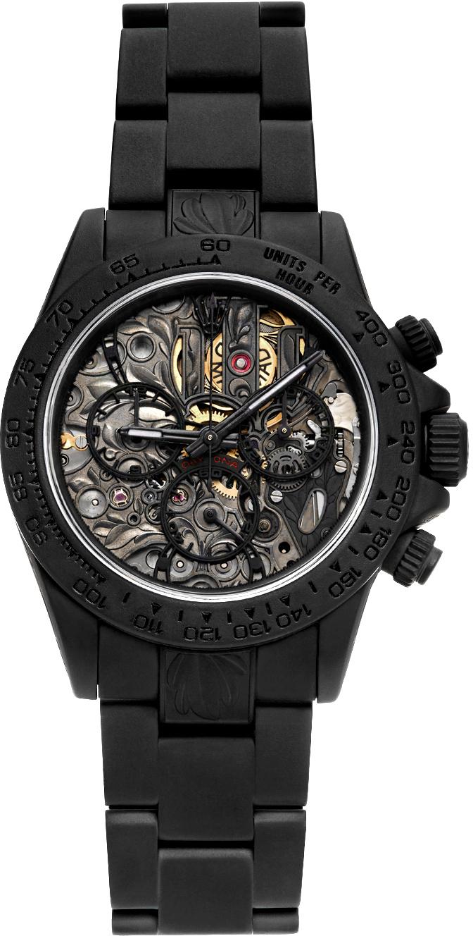 Black Customized Rolex Daytona SK II Watch