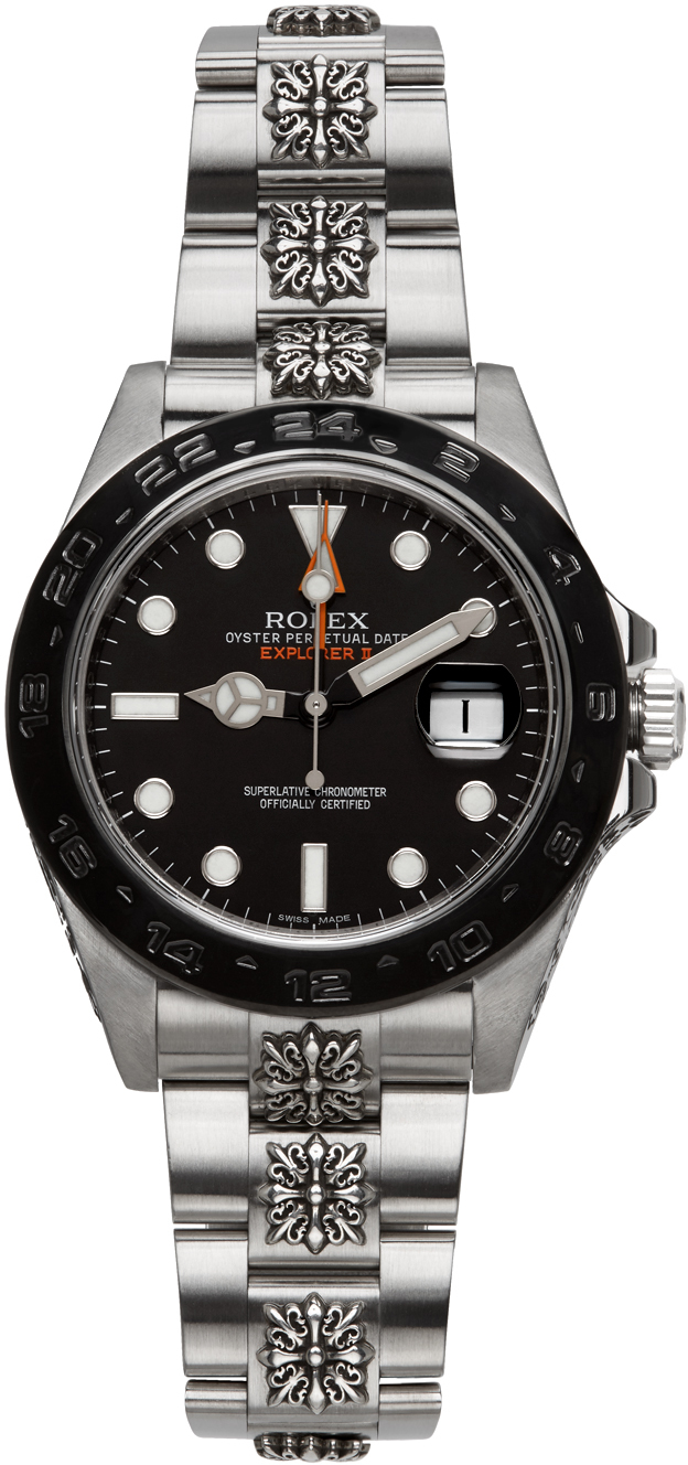Silver Customized Rolex Lys Explorer II Watch