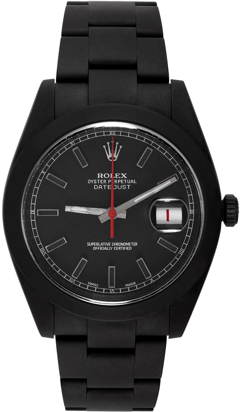 Black & Red Customized Rolex Datejust II Watch