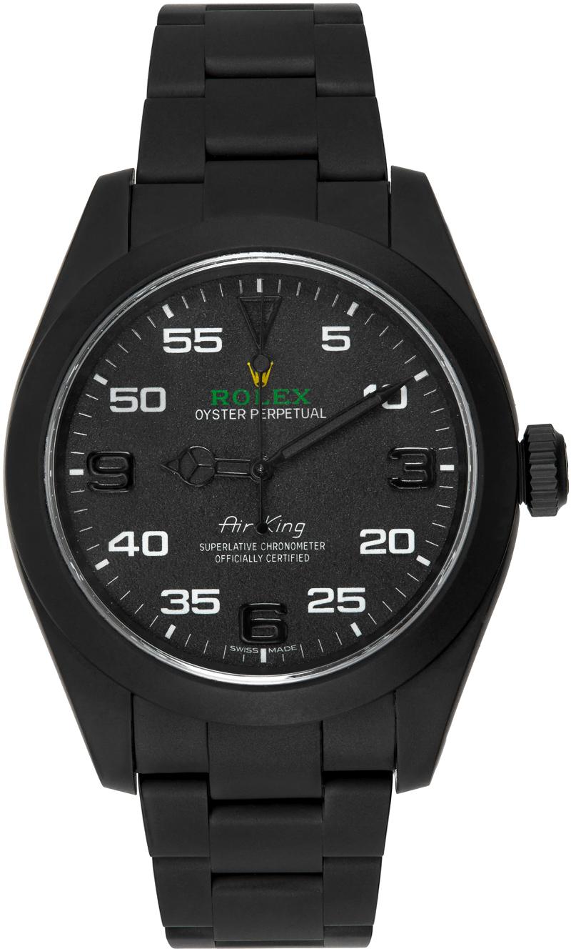 Black Customized Rolex Air King Watch