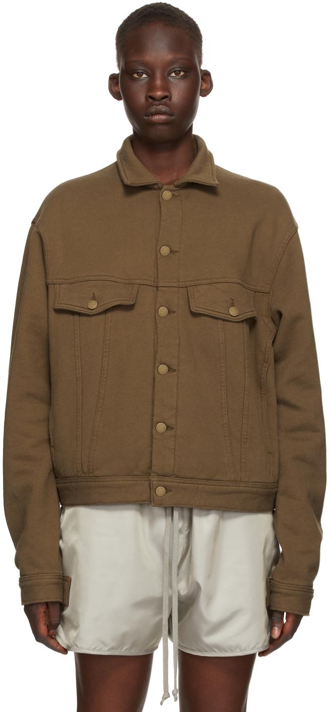 Brown Fleece Trucker Jacket