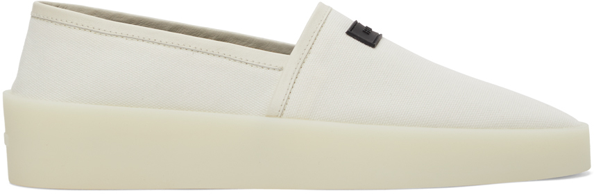 White Canvas Espadrille Sneakers