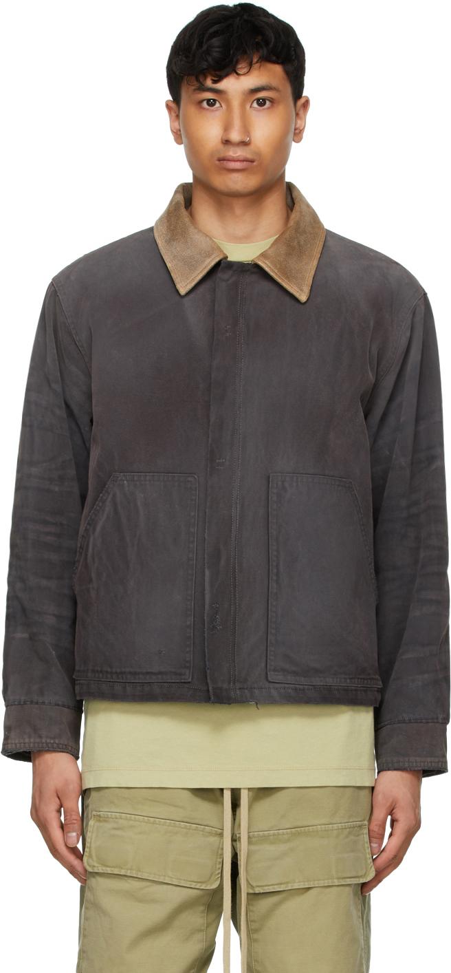 Black Canvas Work Jacket