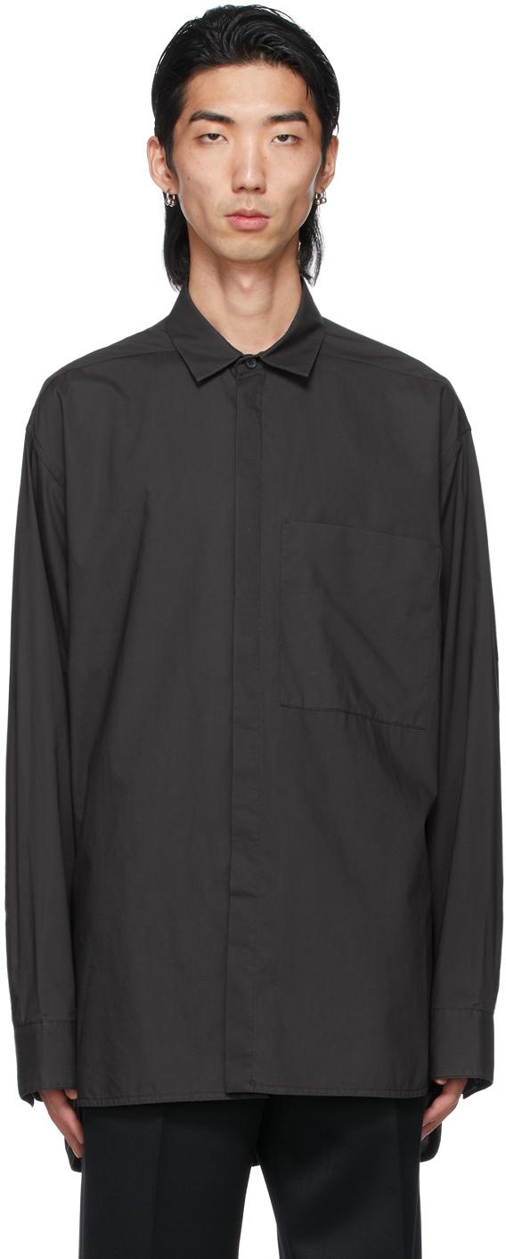 Black Easy Collared Shirt